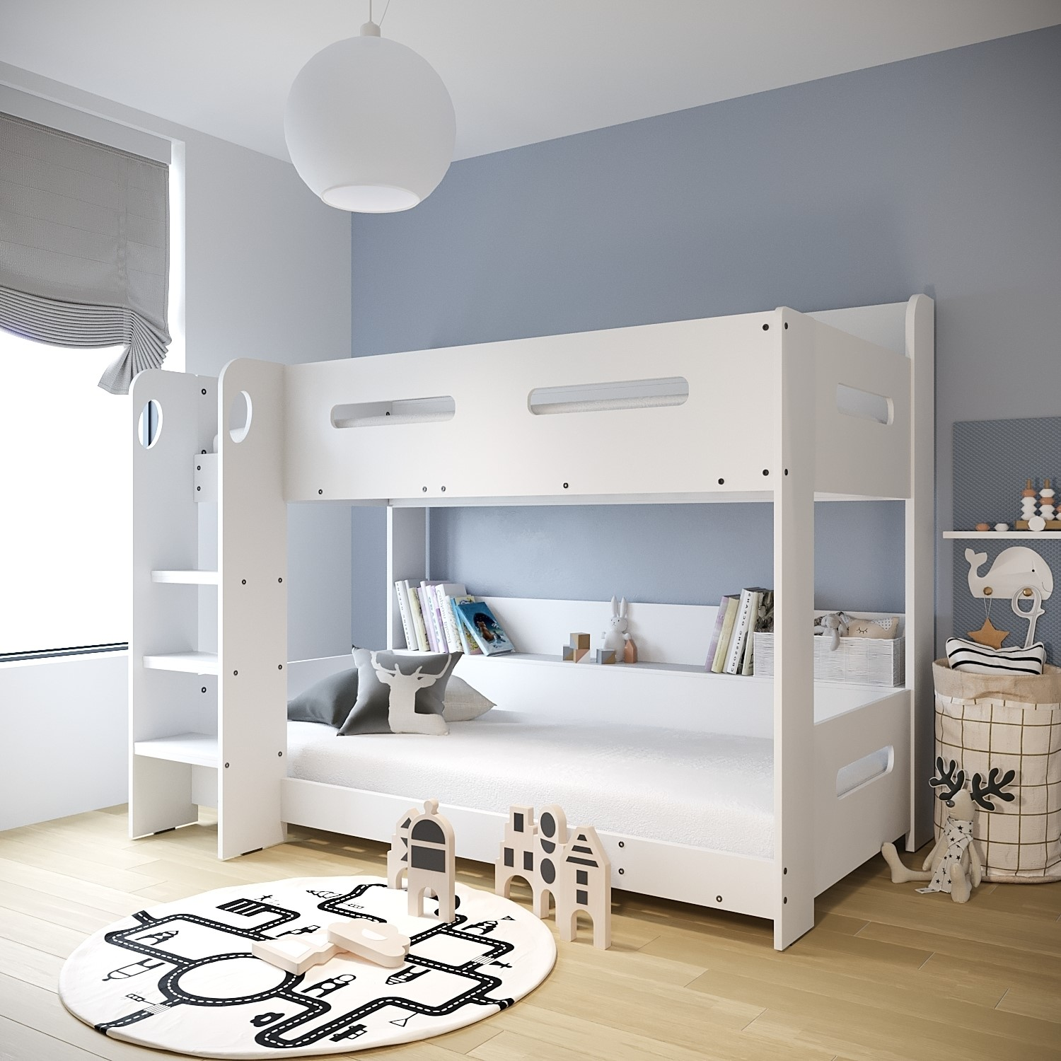 Sky White Bunk Bed Ladder Can Be Fitted Either Side Furniture123