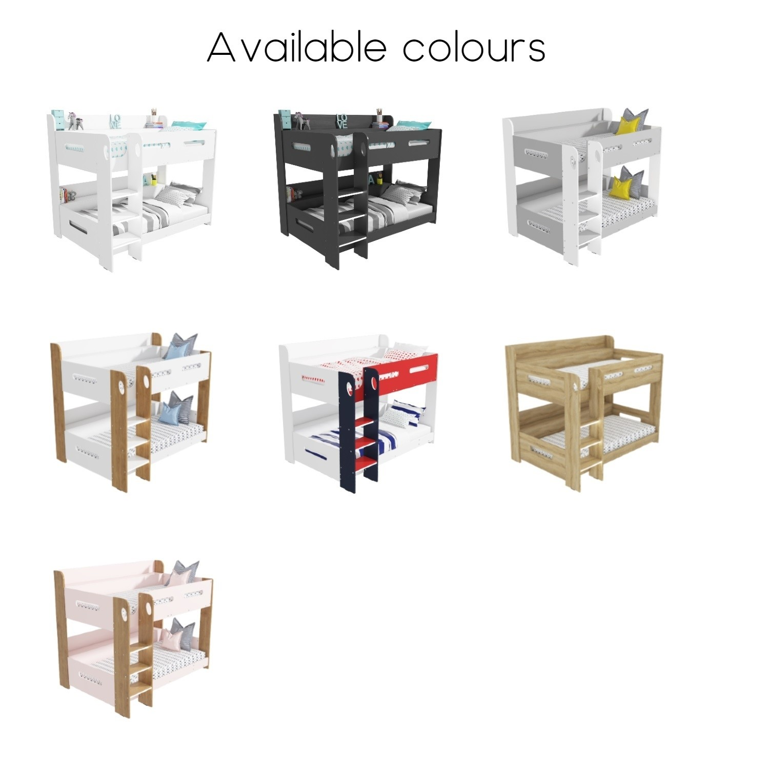 Picture of: Sky White Bunk Bed Ladder Can Be Fitted Either Side Furniture123