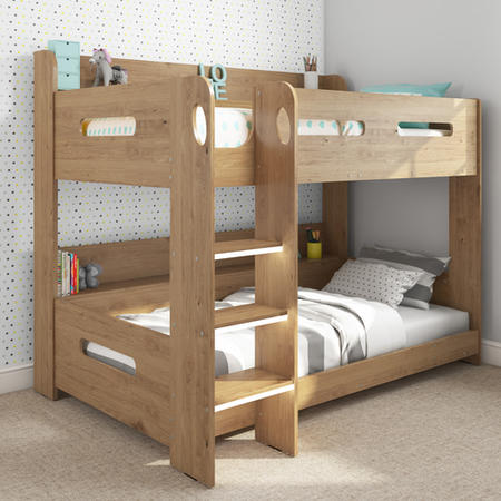 Grade A2 Sky Bunk Bed In Oak Ladder Can Be Fitted Either Side
