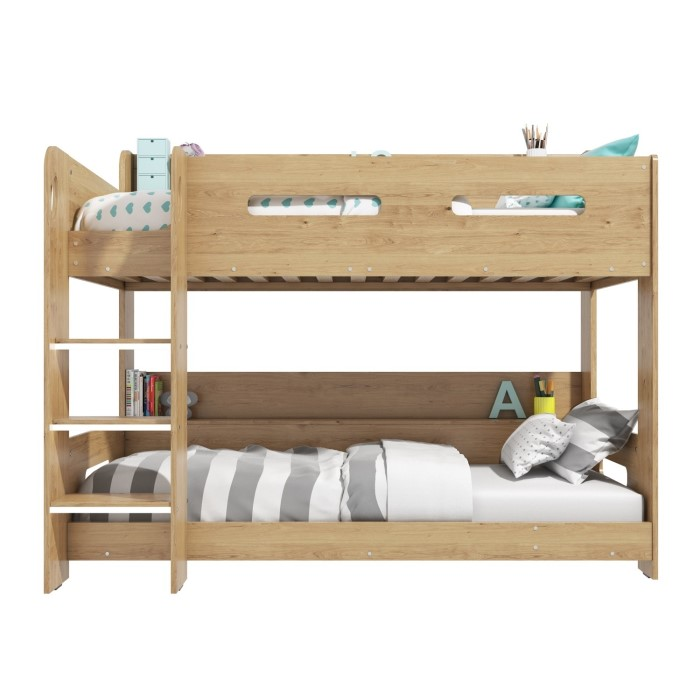 Sky Bunk Bed In Oak Ladder Can Be Fitted Either Side Furniture123