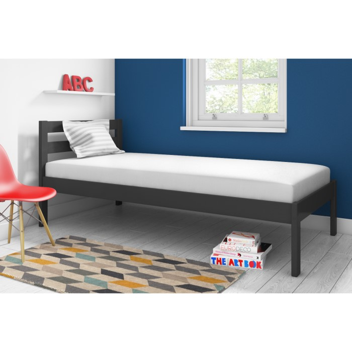 Sleepy Single Bed Frame In Anthracite Grey Furniture123