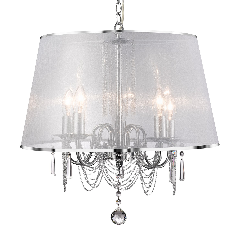 5 Light Chandelier with White Shade  Venetian
