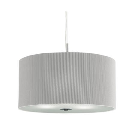 Drum Pendant Light with a Silver Shade