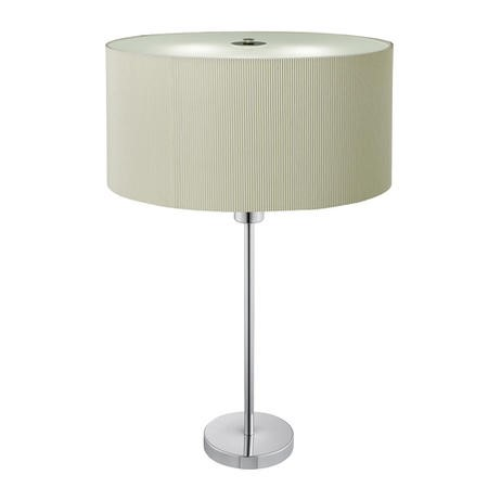 Drum Cream Pleated Shade Table Lamp with 2 Lights