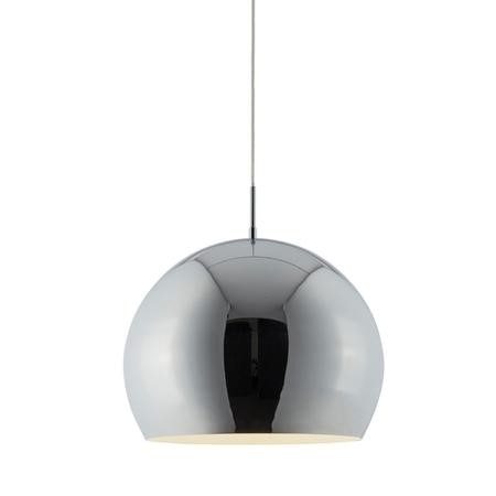 Ceiling Pendant Light with Round Chrome Shade - Industrial Style