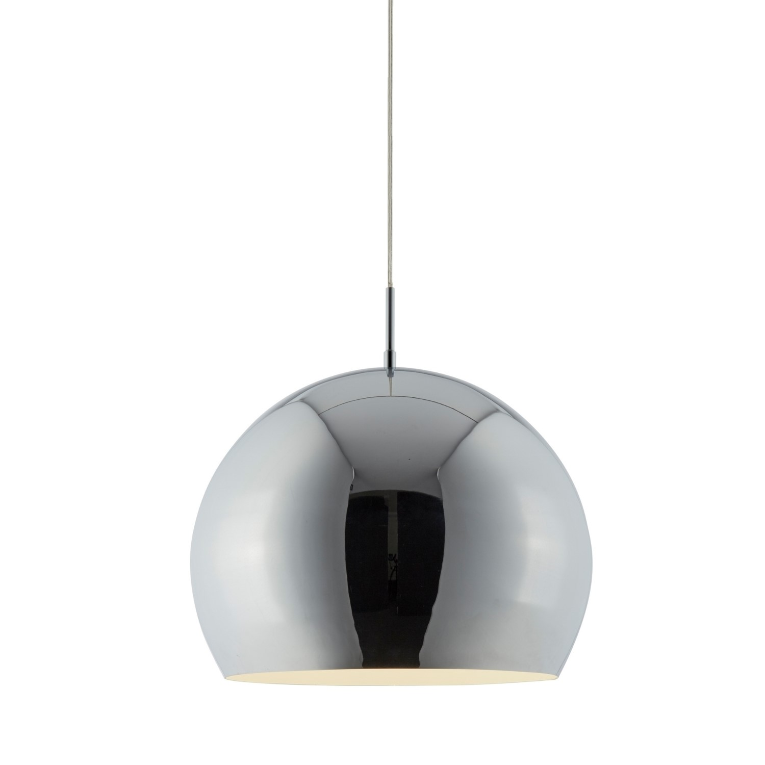 Chrome Pendant Light With Round Shade Industrial Furniture123