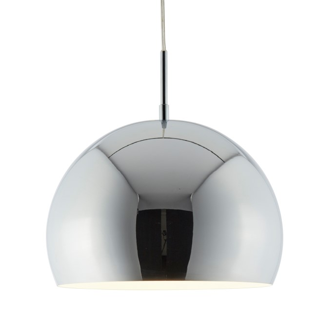 Round Pendant Ceiling Light in Chrome - Industrial Style