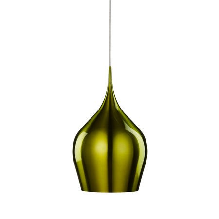 Green Pendant Ceiling Light with Braided Cable - Vibrant