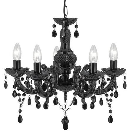 Black Chandelier with 5 Lights - Marie Therese