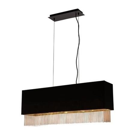 Bar Light in Black & Gold - Fringe