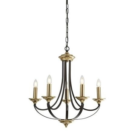 Chandelier with 5 Lights in Bronze & Brown - Belfry