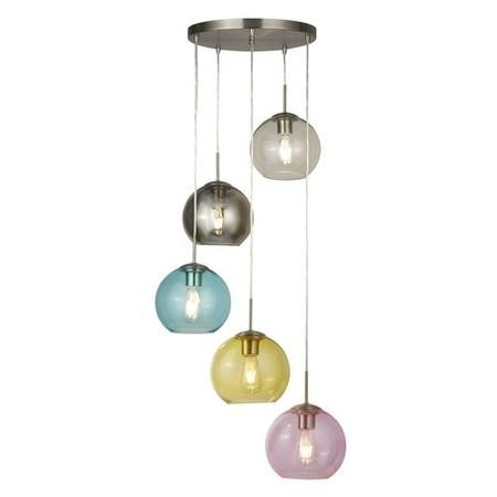 Multi-Coloured Ceiling Pendant with 5 Lights - Mardi