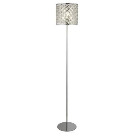 Floor Lamp in Chrome with Crystal Shade - Tennessee