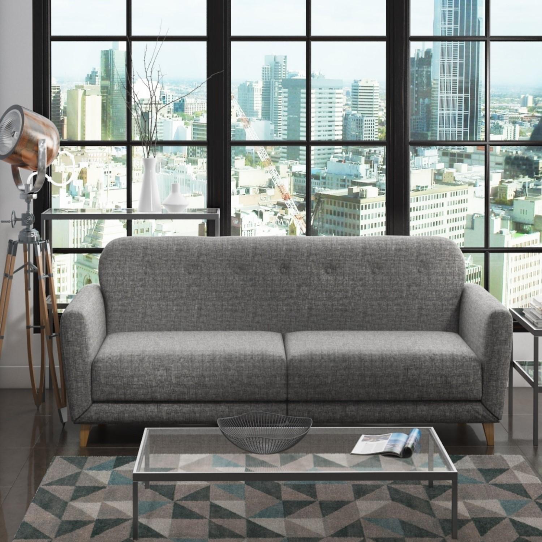 Archer Grey 3 Seater Sofa Bed Sleeps 2 Furniture123