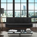 SOF004 Barker Click Clack 2 Seater Fabric Sofa Bed in Dark Grey