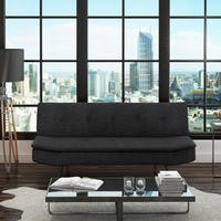 Barker Click Clack 2 Seater Fabric Sofa Bed in Dark Grey