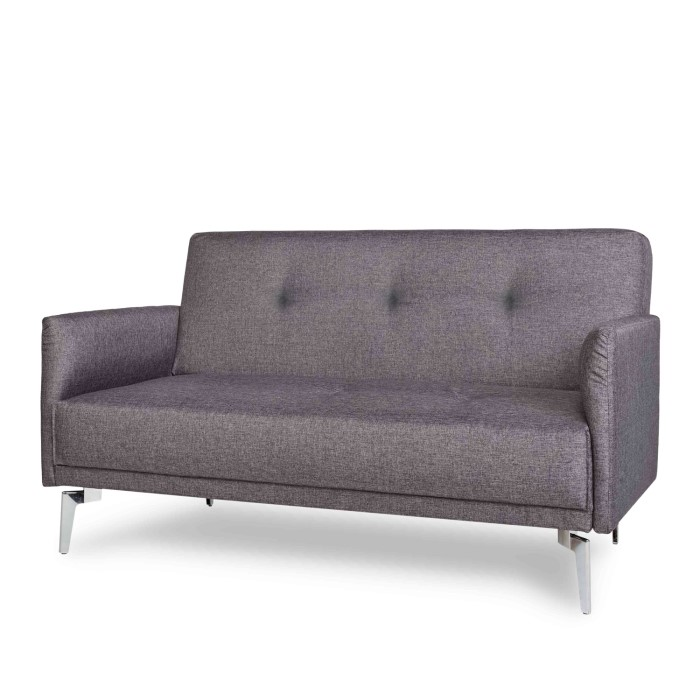 Colby 2 Seater Modern Fabric Sofa in Dark Grey | Furniture123