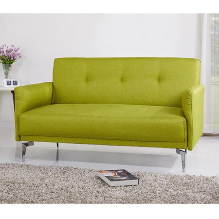 Colby 2 Seater Modern Fabric Sofa in Lime Green
