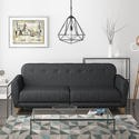 SOF007 Archer 2 Seater Fabric Sofa Bed in Charcoal