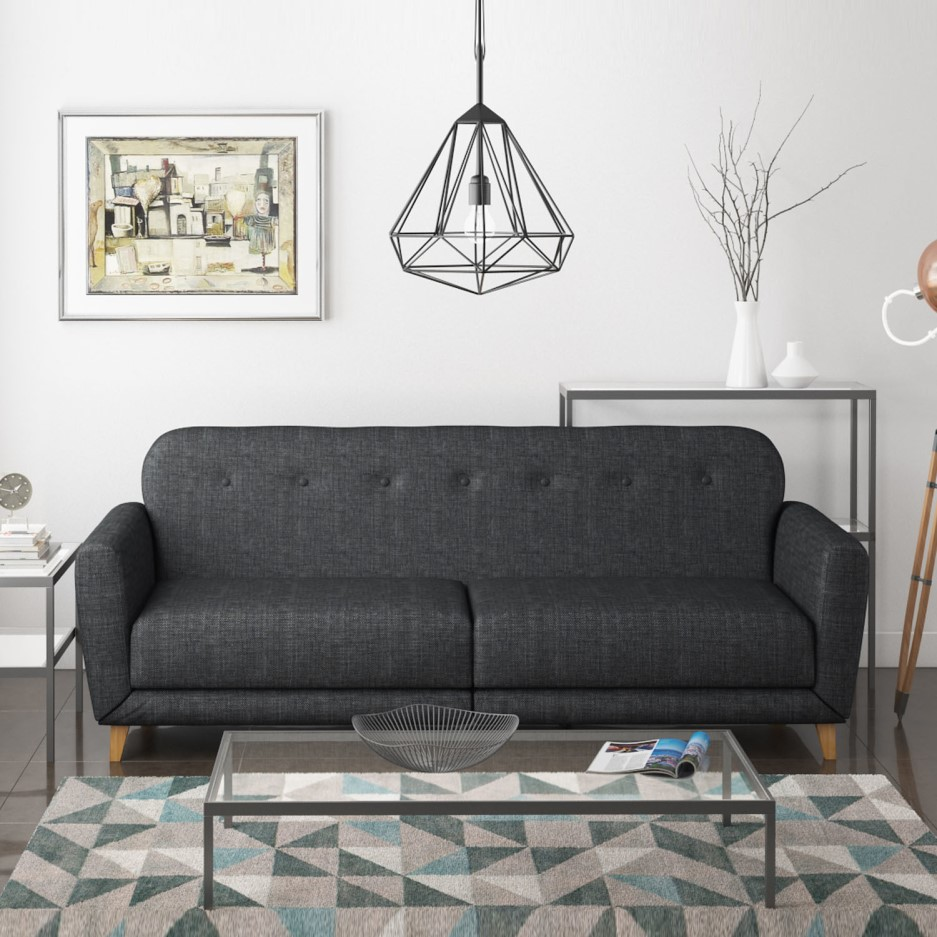 Archer Charcoal Grey 3 Seater Sofa Bed Sleeps 2