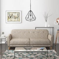 Archer 2 Seater Fabric Sofa Bed in Oatmeal