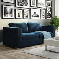 Clara Dark Blue Velvet 3 Seater Sofa