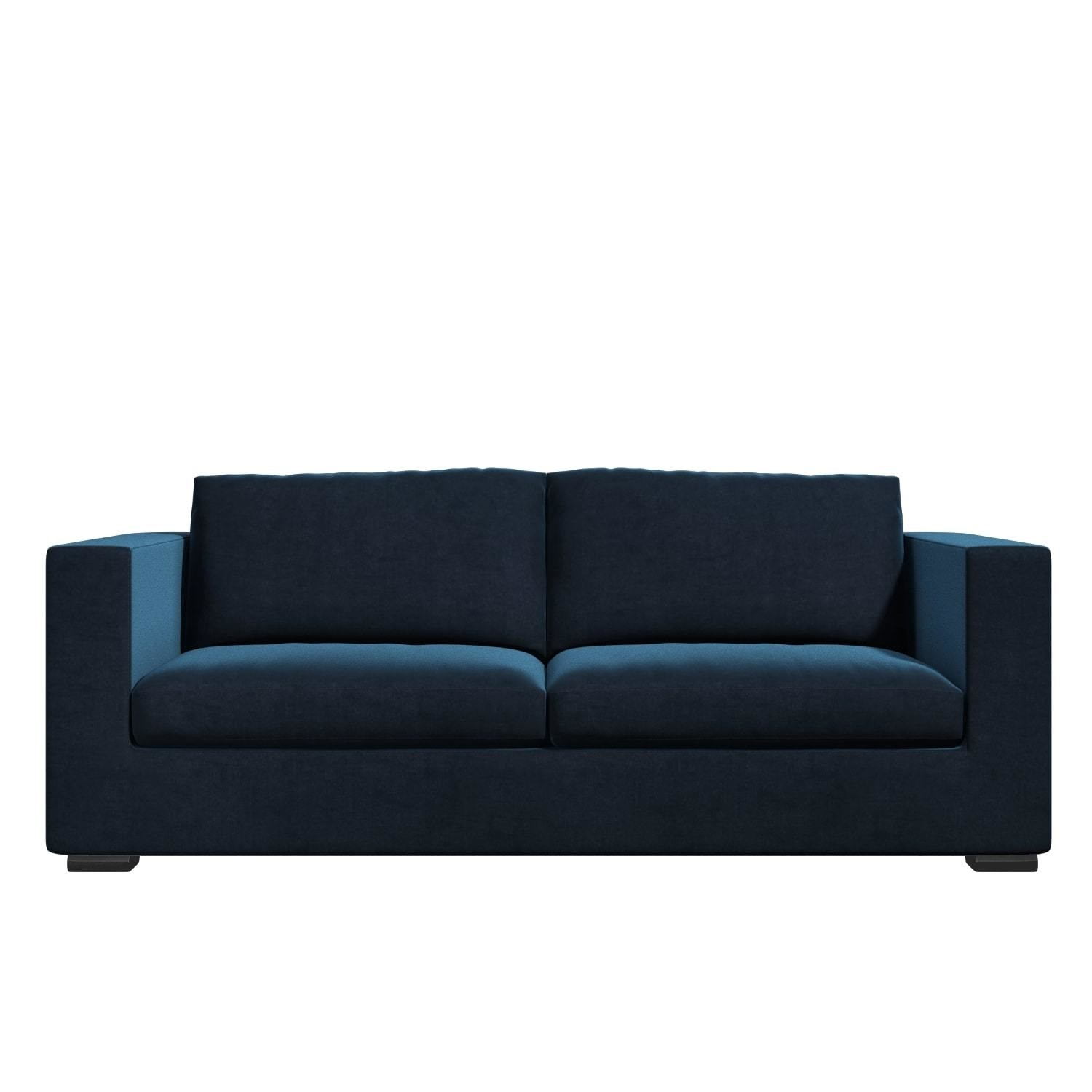 Navy Blue Velvet 3 Seater Sofa Clara Furniture123
