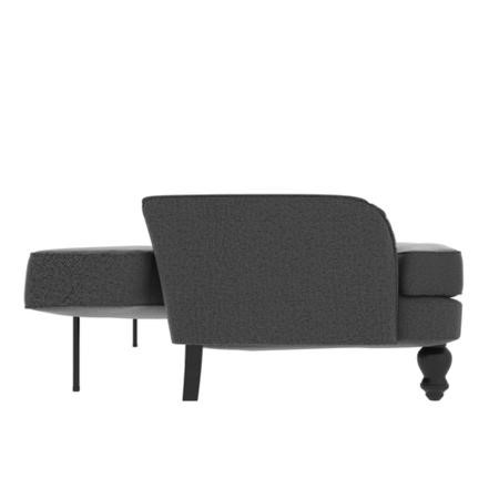 Amelia 3 Seater Sofa Bed in Charcoal Grey
