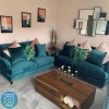 Payton Teal Blue Velvet 2 Seater Sofa