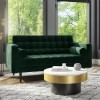 Elba Green Velvet Sofa with Button Detailing & Bolster Cushions - Seats 2