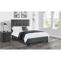 Julian Bowen Sorrento Upholstered Kingsize Bed Frame in Grey