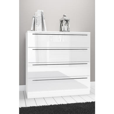 space white high gloss wide chest of drawers furniture123