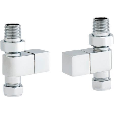 Pair of Straight Square Head Radiator Valves