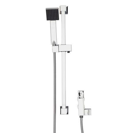 Square Shower Shower with Thermostatic Valve & Slide Rail Kit