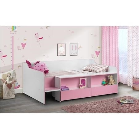 Julian Bowen Stella Girls Low-Sleeper in Pink and White