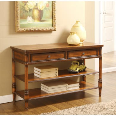 Wilkinson Furniture Stanford Console Table in Chinaberry