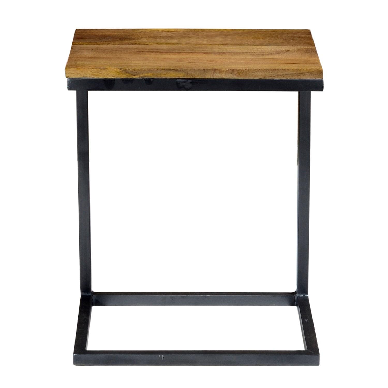 Sidetable Met La.Suri Sofa Side Table In Industrial Solid Wood Steel Frame