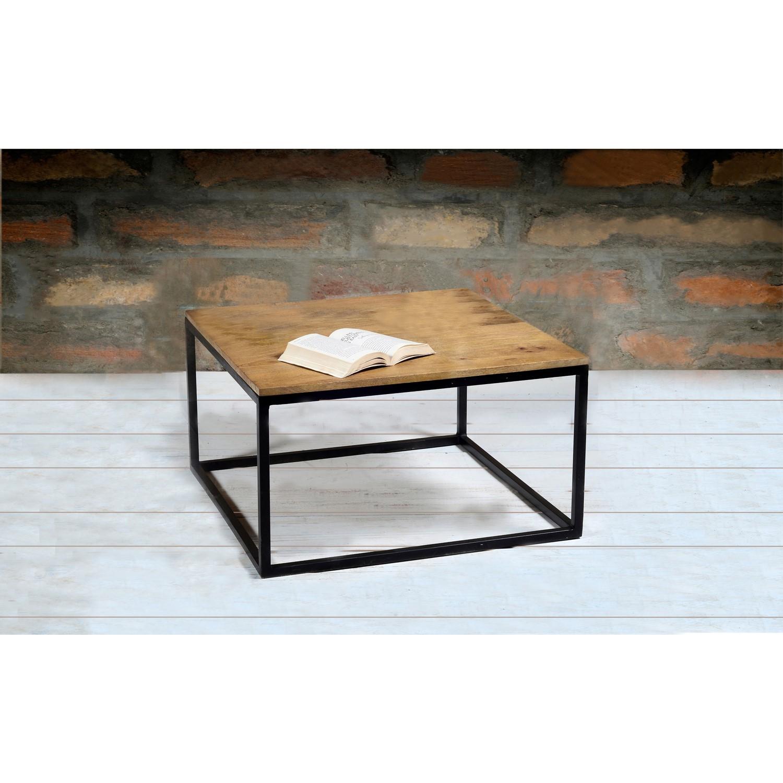 Admirable Suri Modern Industrial Modern Square Coffee Table In Mango Wood Metal Detail Machost Co Dining Chair Design Ideas Machostcouk