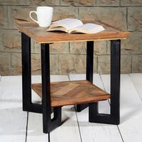Suri Industrial High Quality Parquet Solid Wood Side Table