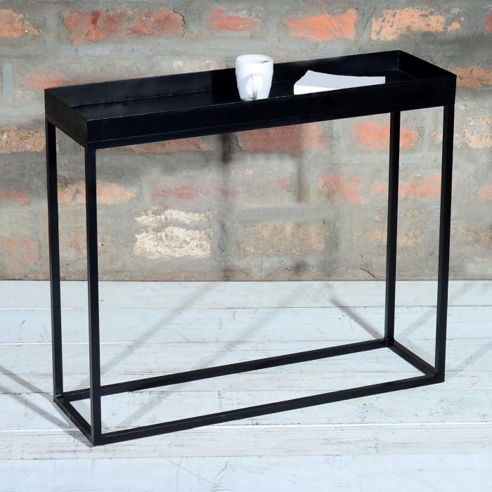 Suri Industrial Black Metal Console Table Furniture123