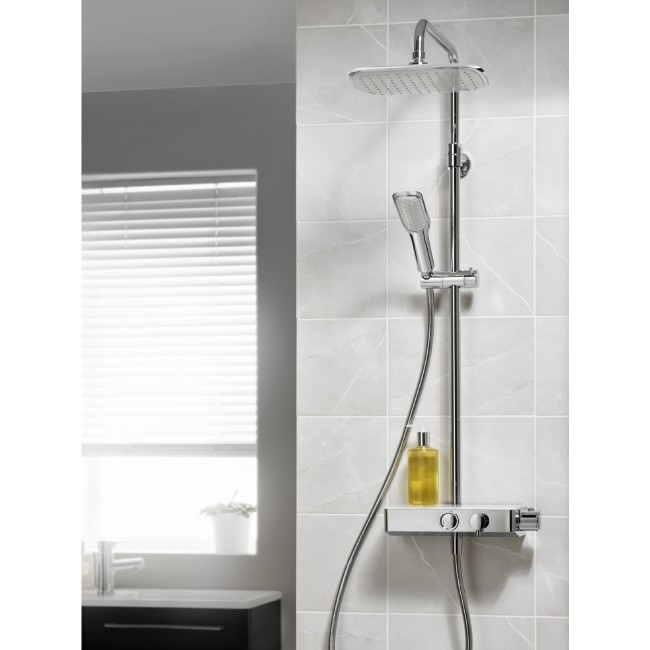 Triton Showers Push Button Mixer Shower - Chrome