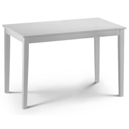 Julian Bowen Taku Dining Table In Satin White