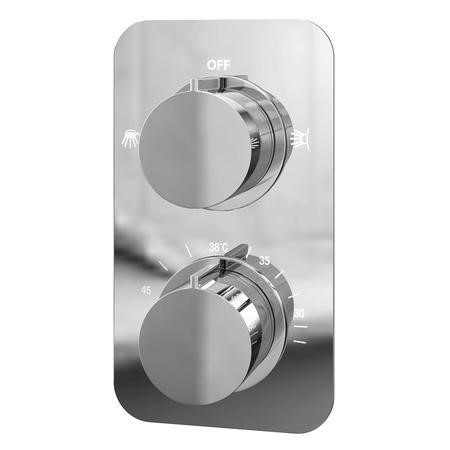 Thermostatic Concealed Shower Valve - Dual Function