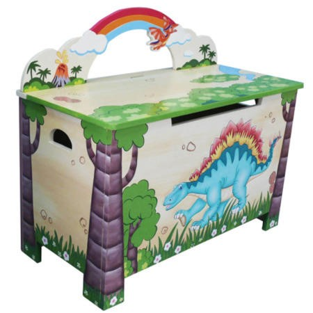 Teamson Dinosaur Toy Box Furniture123