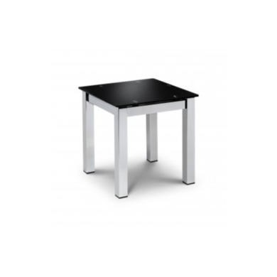 TEM007 Julian Bowen Tempo Black Glass Lamp Table