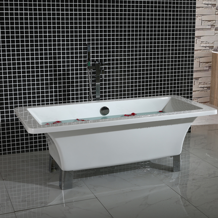 Chalice Traditional Freestanding Bath with Chrome Feet - 1690 x 740 x 570mm