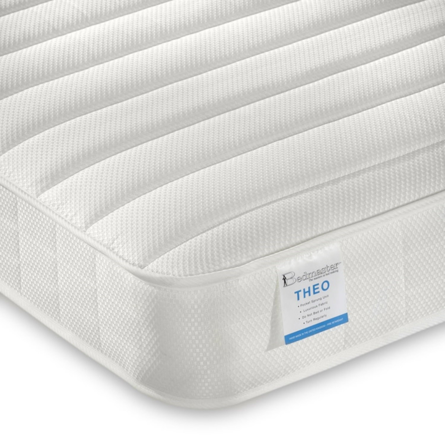 Theo pocket sprung low profile mattress small single