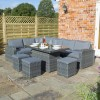 Rowlinson Large Grey Rattan Garden Corner Sofa Set - Thornbury Range
