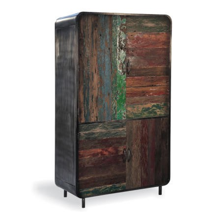 Recycled boat retro wardrobe furniture123 for Furniture 123 wardrobes