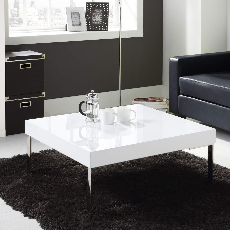 - High Gloss Square White Coffee Table - Tiffany Range Furniture123